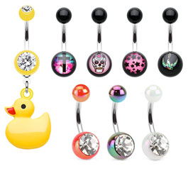Acrylic Belly Button Rings