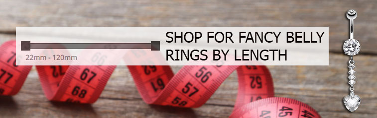 Shop for dangly belly rings by length