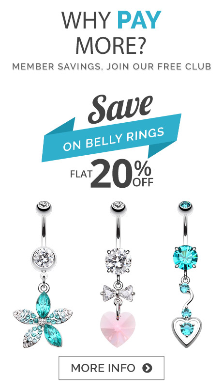 Discounted Belly Bars and Belly Button Jewellery