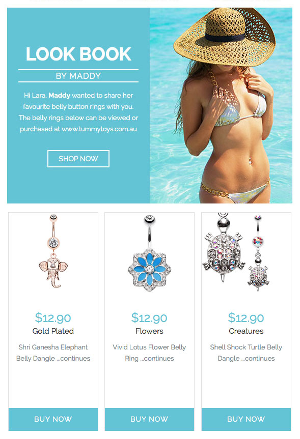 Click the heart to save your favourite belly bars