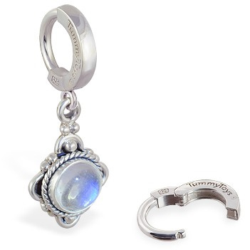 TummyToys® Moonstone Drop Belly Ring - Belly Button Rings