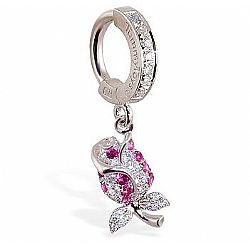 TummyToys® Jewel Paved Rose Belly Ring