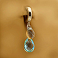 TummyToys Blue Topaz and Labradorite  on Plain Clasp - Solid Silver Clasp Lock Body Jewellery