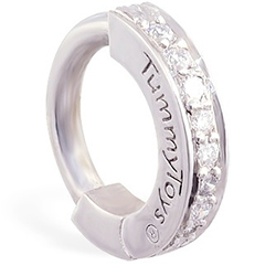 TummyToys® Solid Platinum and Diamond Pave Clasp