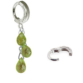 TummyToys® Natural Peridot Dangle on Pure Platinum Clasp