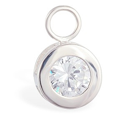 Buy TummyToys® Bezel Set CZ Circle Swinger Charm