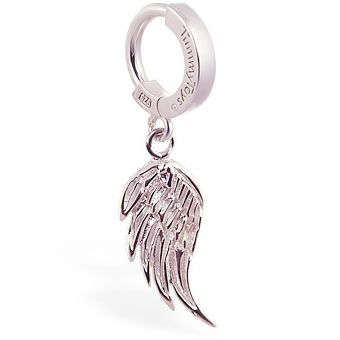 TummyToys® Silver Femme Metale's Angel Wing Navel Ring. Belly Rings Australia.