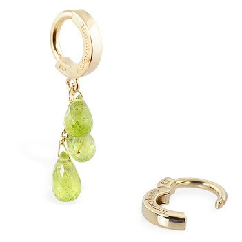 TummyToys® 14K Yellow Gold Peridot Navel Ring. Belly Rings Australia.