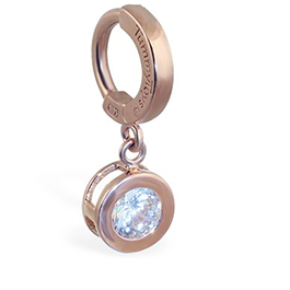 Buy TummyToys® Solid Rose Gold CZ Dangle
