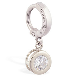 Buy TummyToys® Solid White Gold CZ Dangle