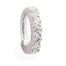 TummyToys® Solid White Gold with 5 Real Diamonds