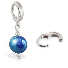 TummyToys® Blue Freshwater Coin Pearl