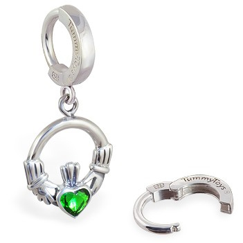 TummyToys® Irish Claddagh Belly Huggy. Belly Rings Australia.