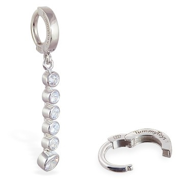 TummyToys® Clear CZ Journey Navel Ring. Belly Bars Australia.