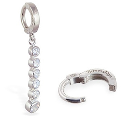 TummyToys® Clear CZ Journey Navel Ring
