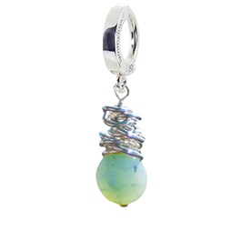 Saltwater Silver Amazonite Huggy