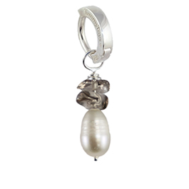 Saltwater Silver Pearl with Smokey Quartz