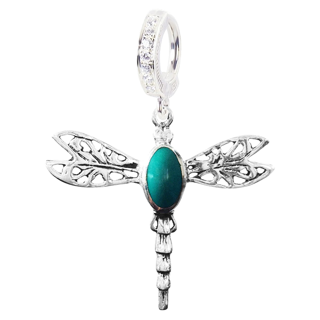 Saltwater Silver Turquoise Dragonfly. Belly Rings Shop.