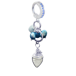 Designer Moonstone Pearl Drop Huggy
