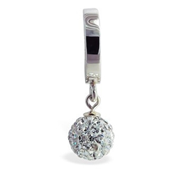 TummyToys® Silver Disco Ball Belly Ring