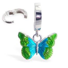 TummyToys® Silver Butterfly Belly Ring