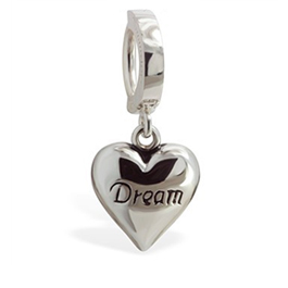 TummyToys Dream Heart Belly Huggy - Solid 925 Silver Love Heart Snap Lock Belly Ring