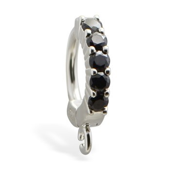TummyToys® Black Claw Charm Slave. Belly Rings Australia.
