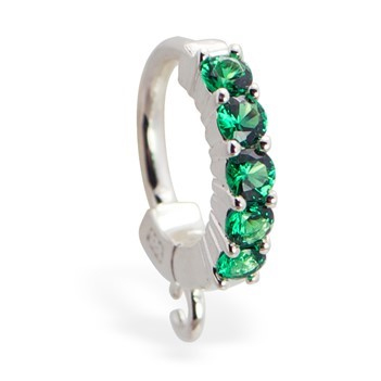 TummyToys® Emerald Charm Slave. Shop Belly Rings.