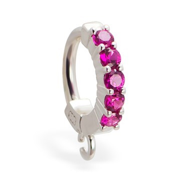 TummyToys® Pink Claw Charm Slave. Belly Rings Australia.
