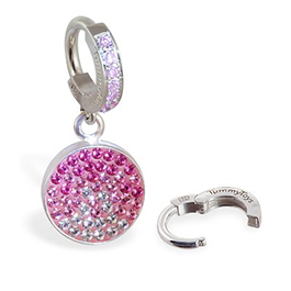TummyToys Dusk Swarovski Belly Ring - Snap Lock Huggy Belly Button Rings