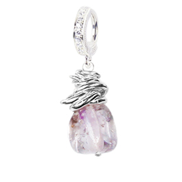 Saltwater Silver Ametrine CZ Clasp - TummyToys Solid Silver Australian Hand Crafted Belly Huggy