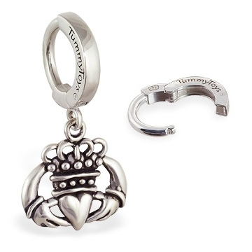 TummyToys® Irish Claddagh Belly Huggy. Belly Bars Australia.