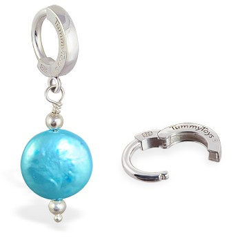 TummyToys® Marine Freshwater Coin Pearl - Belly Button Rings