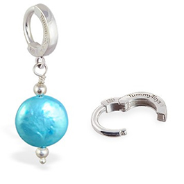 Buy TummyToys Marine Freshwater Coin Pearl - Solid 925 Silver Clasp Snap Lock Body Jewellery