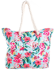 Authentic Rip Curl Swell Beach Tote - Genuine Rip Curl Australia Floral Beach Bag