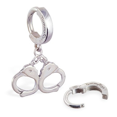 TummyToys® Silver Handcuff Huggy - Australian Belly Ring Store