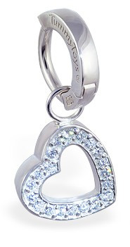 TummyToys Silver Floating Heart Swinger - With Solid Silver Clasp Lock Belly Ring