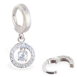Buy TummyToys® Silver Bullseye CZ Drop