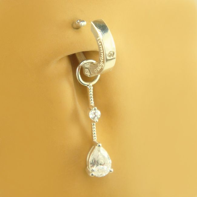 tummytoys cubic zirconia diamond drop swinger charm. Black Bedroom Furniture Sets. Home Design Ideas