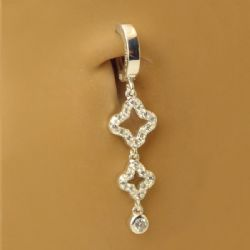 TummyToys® Open Cubic Zirconia Clover Drop
