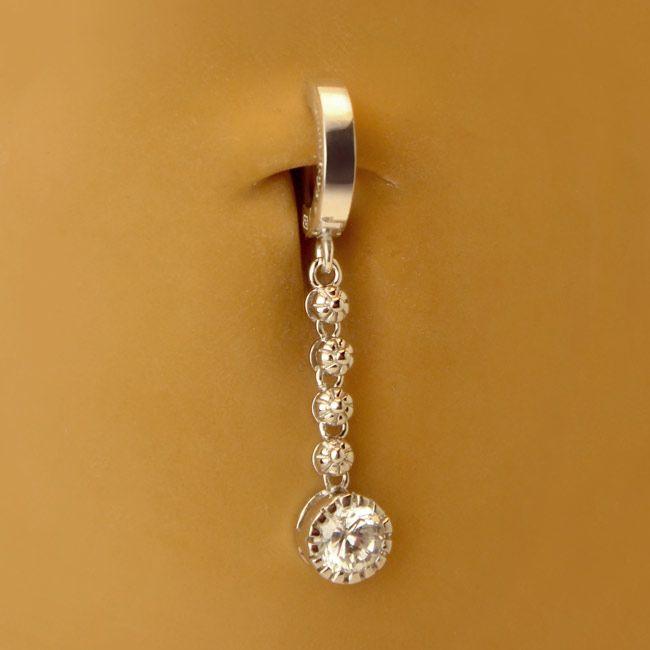 tummytoys174 flower chain navel ring navel jewellery