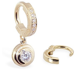 TummyToys® Yellow Gold with 1/4 Ct Diamond Pendant