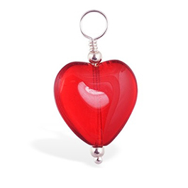 TummyToys® Dangly Red Heart Swinger Charm
