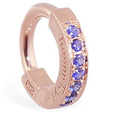 TummyToys® Rose Gold Sapphire Pave Sleeper