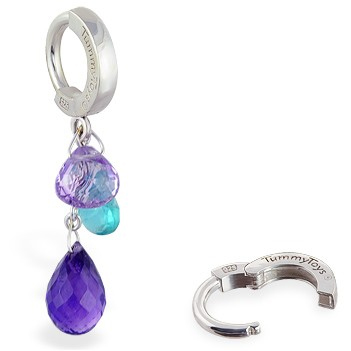 TummyToys® Spring Multi Gem Cluster. Quality Belly Rings.