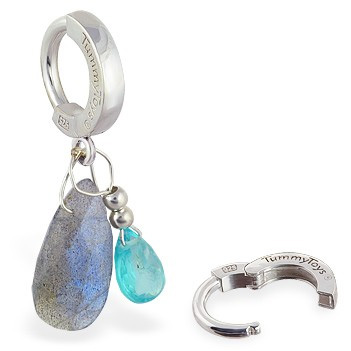 TummyToys® Apatite and Labradorite Belly Ring - Navel Bars Shop