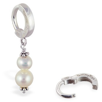 TummyToys® Freshwater Pearl Belly Ring - Navel Jewellery Shop Australia