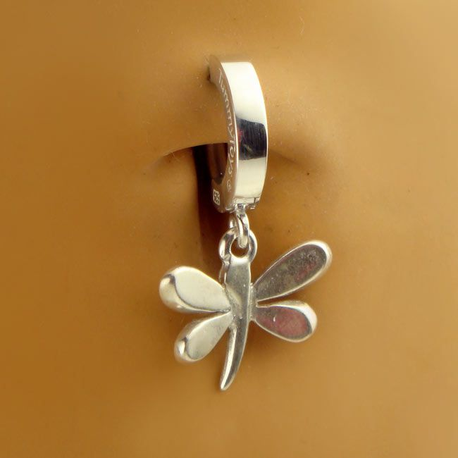 tummytoys 174 silver fly clasp shop belly rings