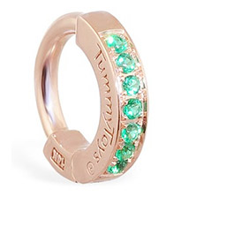 TummyToys® Rose Gold Emerald Pave Sleeper