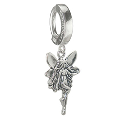 TummyToys 925 Silver Fairy Belly Ring - Solid Silver Snap Lock Body Jewellery